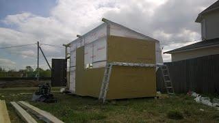 Начало работ по постройке каркасной бытовки.(Начинаю строить временное жильё на время застройки участка. Моя группа вконтакте https://vk.com/club113368806 Смотрите..., 2014-05-13T13:29:43.000Z)