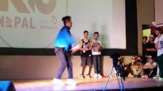 BBoy Kaneki vs BGirl Sky R16 Nepal 1 on 1 Bboying Battle 2015 - Battle 13