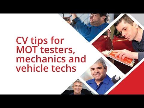 CV Writing Tips For Car Mechanics, MOT Testers & Vehicle Technicians