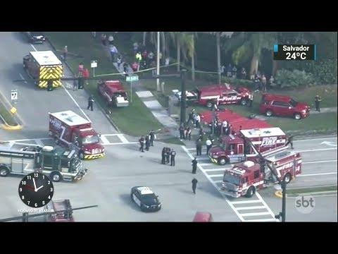 Atirador que matou 17 pessoas na Flórida havia sido expulso da escola   SBT Notícias (15/02/18)