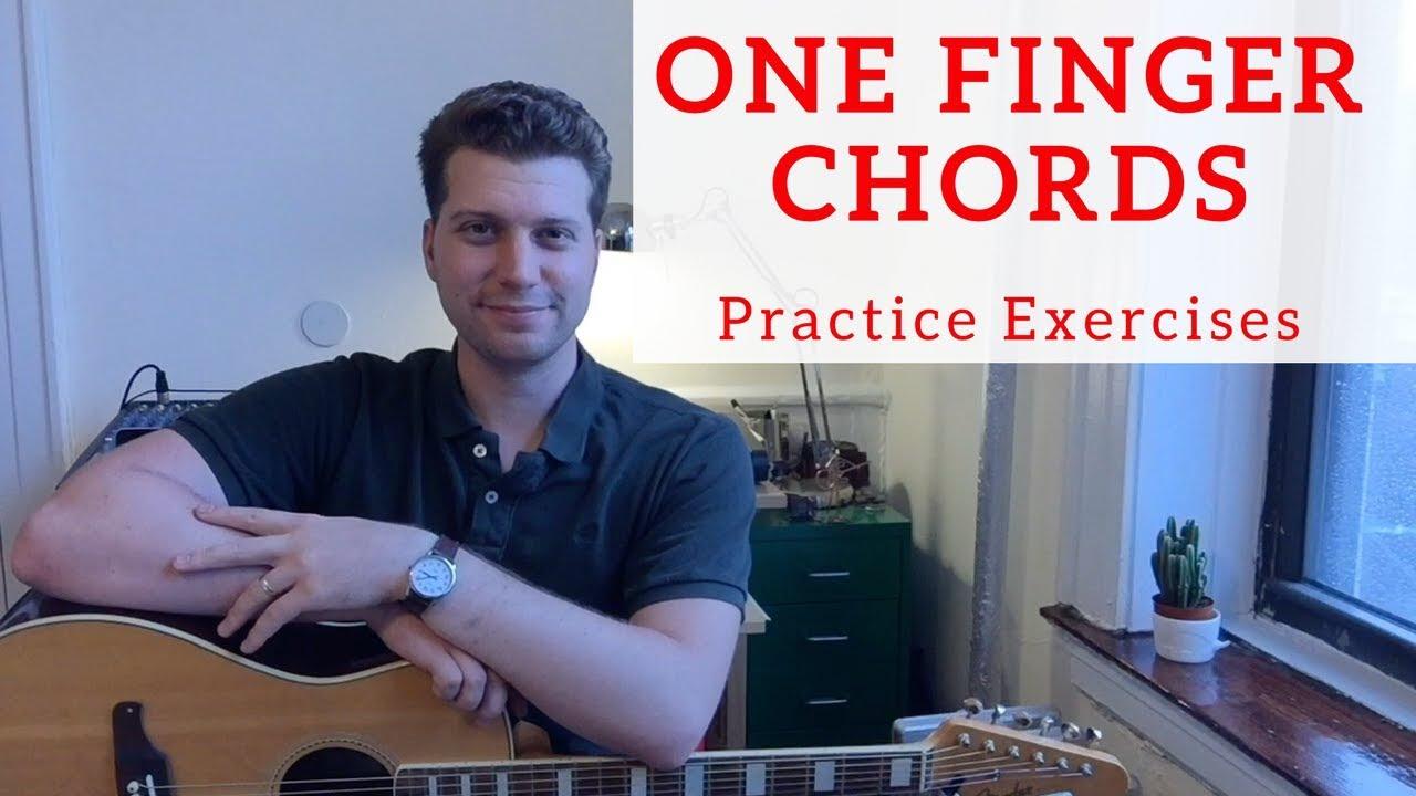 One Finger Guitar Chord Practice Exercises Beginner Guitar Lesson