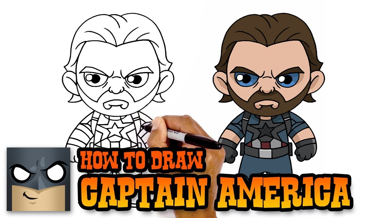 How to Draw Captain America | Infinity War (Art Tutorial) - YouTube