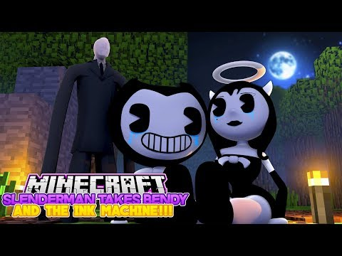 Minecraft SLENDERMAN THREATENS TO KILL BENDY AND THE INK MACHINE AND ALICE ANGEL!!!- Baby Leah
