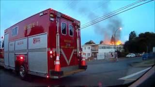 North Van Apt Fire Dash Cam Raw With Radio Audio. (2 Hours)
