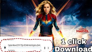 How to download Captain Marvel full HD Hindi + English 720p & 480p movie Download