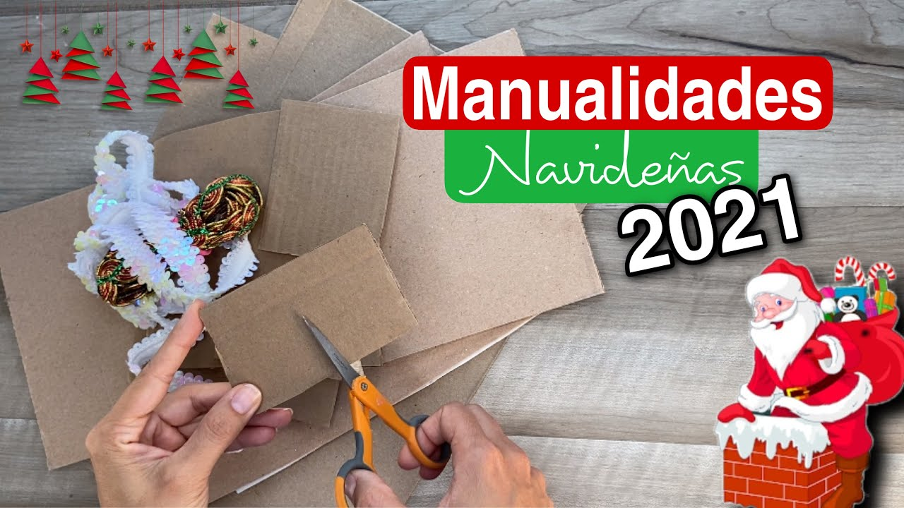 Haz en casa tus propias MANUALIDADES NAVIDEÑAS 2021/Decoração De Natal/Christmas Decorations