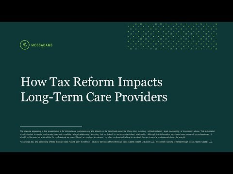 How Tax Reform Impacts Long Term Care Providers