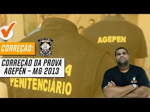 Correção da Prova de Agente Penitenciário de Minas Gerais - 2013 - AGEPEN - MG - Banca IBFC