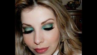 Maquiagem com sombra verde, por Lu Ferraes
