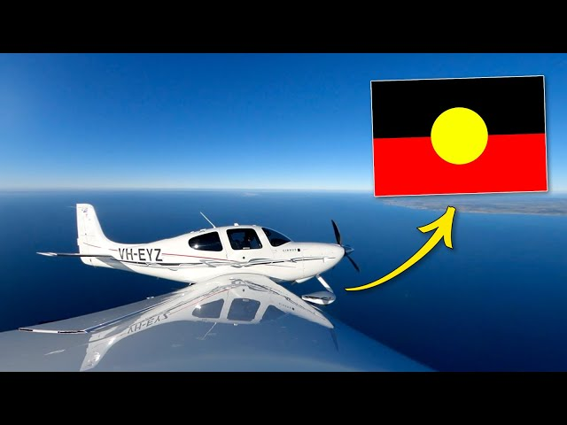How I drew an ABORIGINAL FLAG in the sky