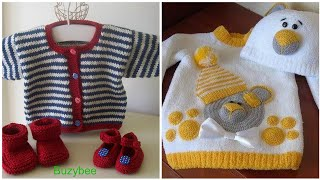 Top 45 new born baby crochet sweater designs