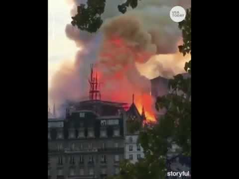 Notre Dame cathedral's spire collapses during fire