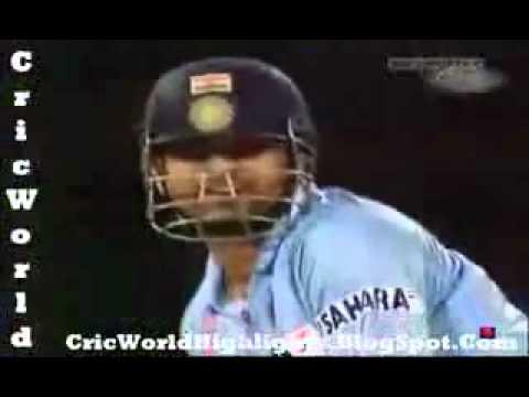 Brett Lee throws a Deadly Beamer at Sachin Tendulkar CricFire com www keepvid com   YouTube