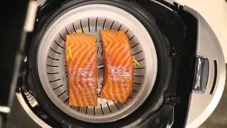 Рецепт лосося на пару в мультиварке BORK U800 от Дениса Семенихина
