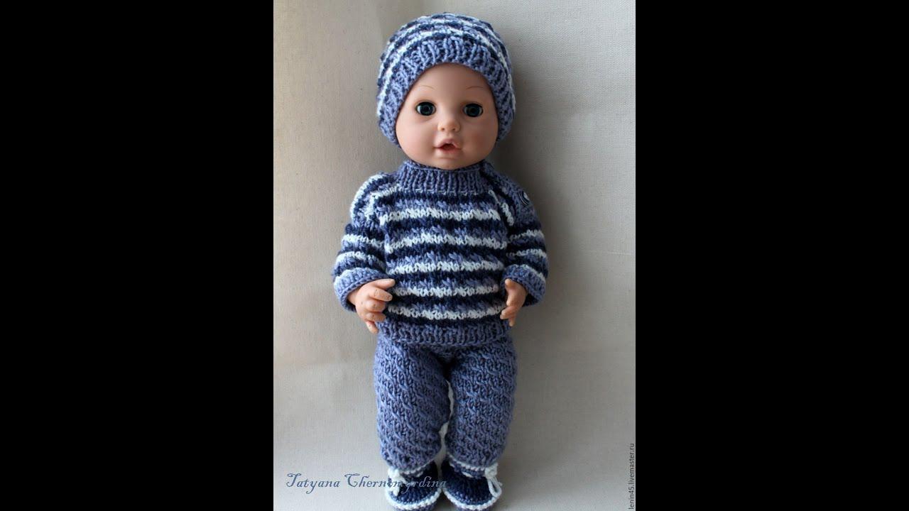 Вяжем одежду куклам спицами с описанием