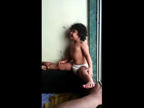 My funny baby says aai shapath