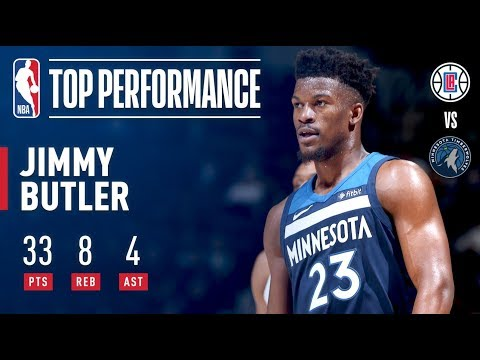 Jimmy Butler Scores Season-High 33 Points vs. Clippers | December 3, 2017