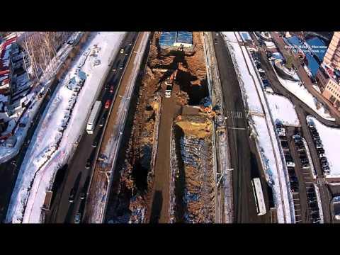 Новая Москва с воздуха. Коммунарка и реконструкция Калужского шоссе