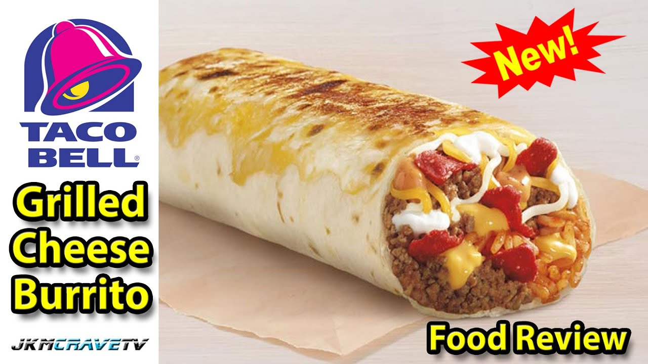 Taco Bell Grilled Cheese Burrito Taste Test Review Jkmcravetv Youtube
