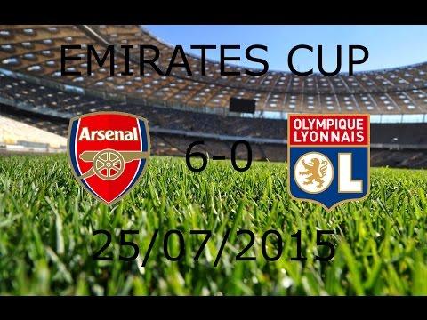 Arsenal 6-0 Lyon (Full Match) ● Emirates Cup ● 25/07/2015
