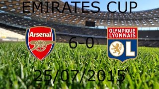 Arsenal 6-0 Lyon (Full Match) ● Emirates Cup ● 25/07/2015