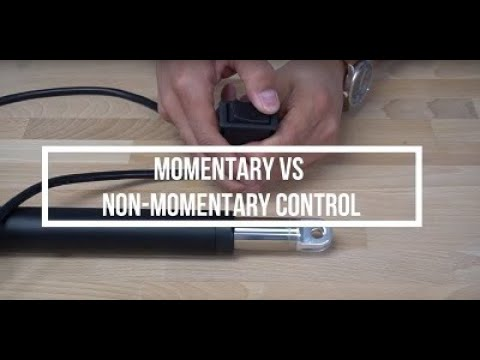 Product Overview - Momentary vs Non Momentary Switches