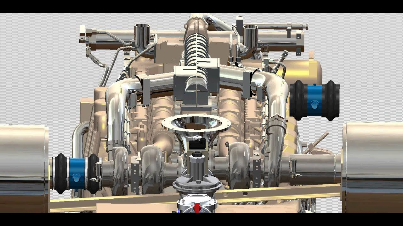 Cat 3512b Gti Bi-fuel Installation Animation