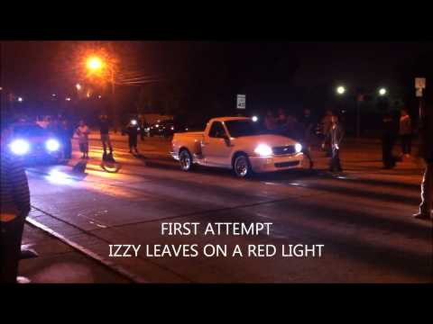 Mexican Juice Ford Lightning Vs Izzy's Performance's  Ford Lightning Street Drag Race