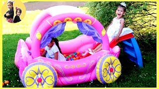 Princess Carriage Inflatable Kids Toy by Sam and Abby