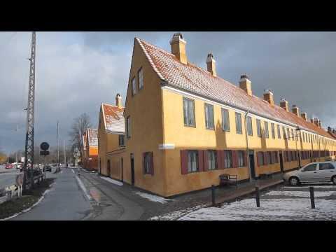Typical Danish Housing near Osterport   Copenhagen   Denmark   February 2015