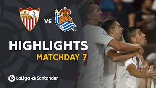 Highlights Sevilla FC vs Real Sociedad (3-2)