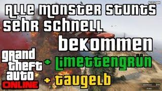 GTA 5 Online: Schnell alle Monster Stunts Online bekommen | + Limettengrün und Taugelb