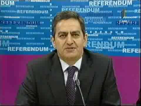 AXCP sədri Əli Kərimlinin İctimai Televiziyada referendumla bağlı çıxışı