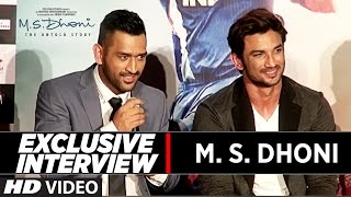 M.S Dhoni Full Interview | M.S.Dhoni - The Untold Story | Press Conference