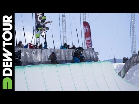 Torah Bright's Run from Snowboard Superpipe Final, Dew Tour iON Mountain Championships 2013