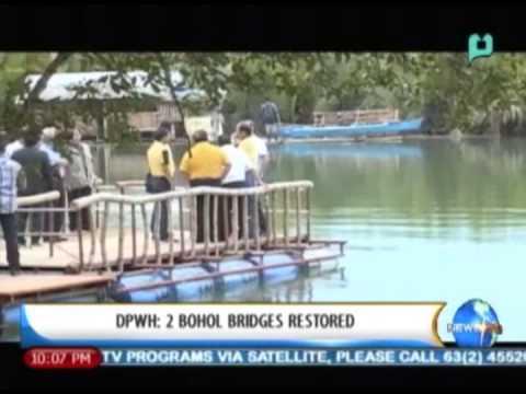 [NewsLife] DPWH: 2 Bohol bridges restored || November 29, 2013