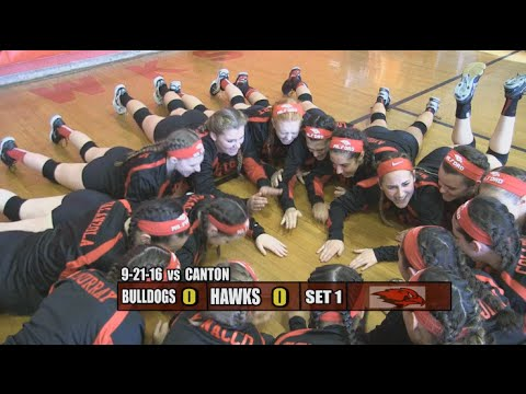 Milford Lady Hawks Volleyball - September 21, 2016 vs Canton