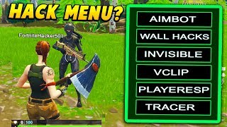 I gave a FAKE HACK MENU to PLAYERS to see if they install it.. (Fortnite Battle Royale)