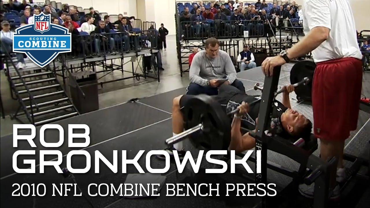 Rob Gronkowski (Arizona, TE) Bench Press | 2010 NFL ...