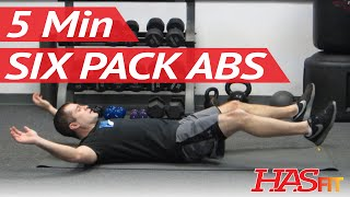 6 pack in 5 minutes   ab exercises workout class by freddie   how to get a 6 pack fast hasfit
