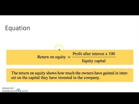how to work out return on equity