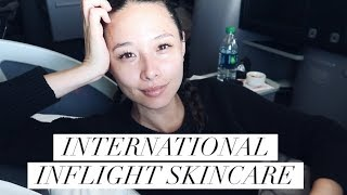 My International In-Flight Skincare Routine | Airplane Skincare | Aja Dang