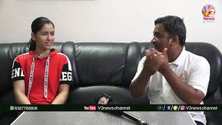 International Table Tennis Player Naina Jaiswal Special Interview || Suresh Dandu || V3 News