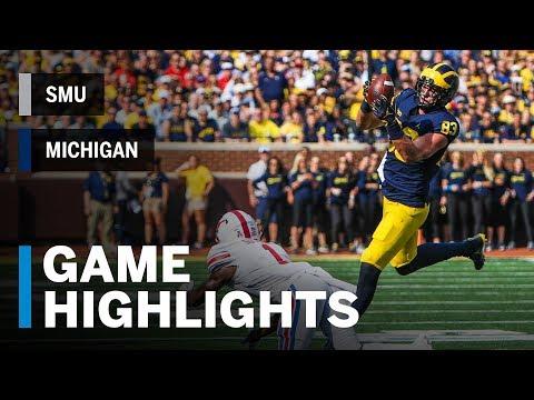 Highlights: SMU at Michigan | Big Ten Football