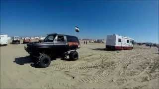 Monster K5 Blazer pulling out Stuck RV at Pismo Huckfest