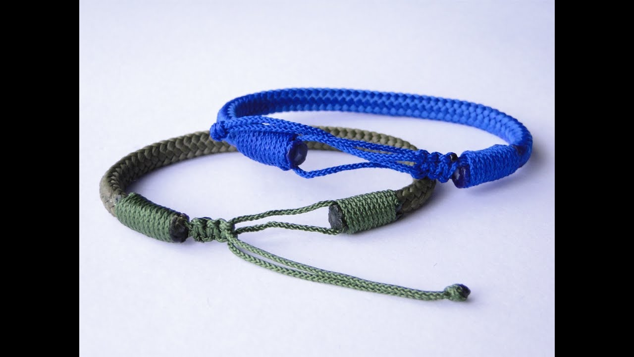 How To Make A Thick Cord Rope Bracelet With The Mad Max Closure Style