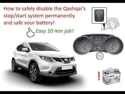 qashqai disabling the stop start system safely and permanently youtube. Black Bedroom Furniture Sets. Home Design Ideas