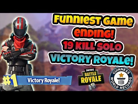 GOING FOR THE *WORLD RECORD* 19 KILL SOLO! THE FUNNIEST ENDING EVER! (Fortnite Battle Royale)