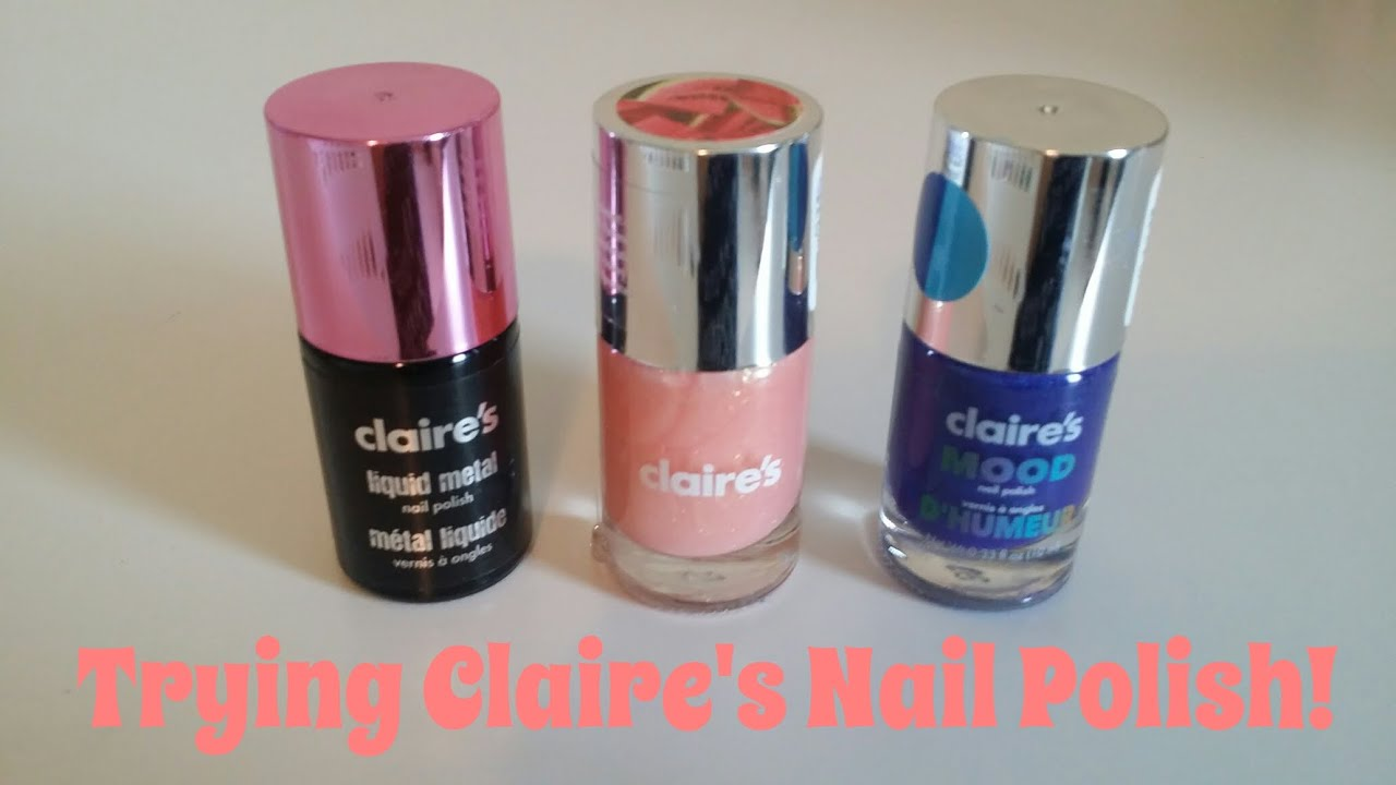 Trying Claire\'s Nail Polish! - YouTube