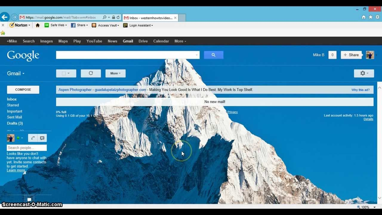 Gmail mountain theme background - How To Change Your Gmail Background